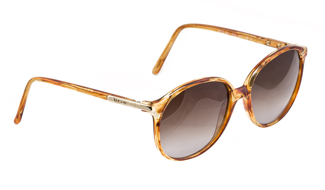 Vintage Versace sunglasses, made in Italy in the 1980s
