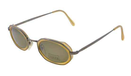 lozza vintage sunglasses hexagon 80s steampunk